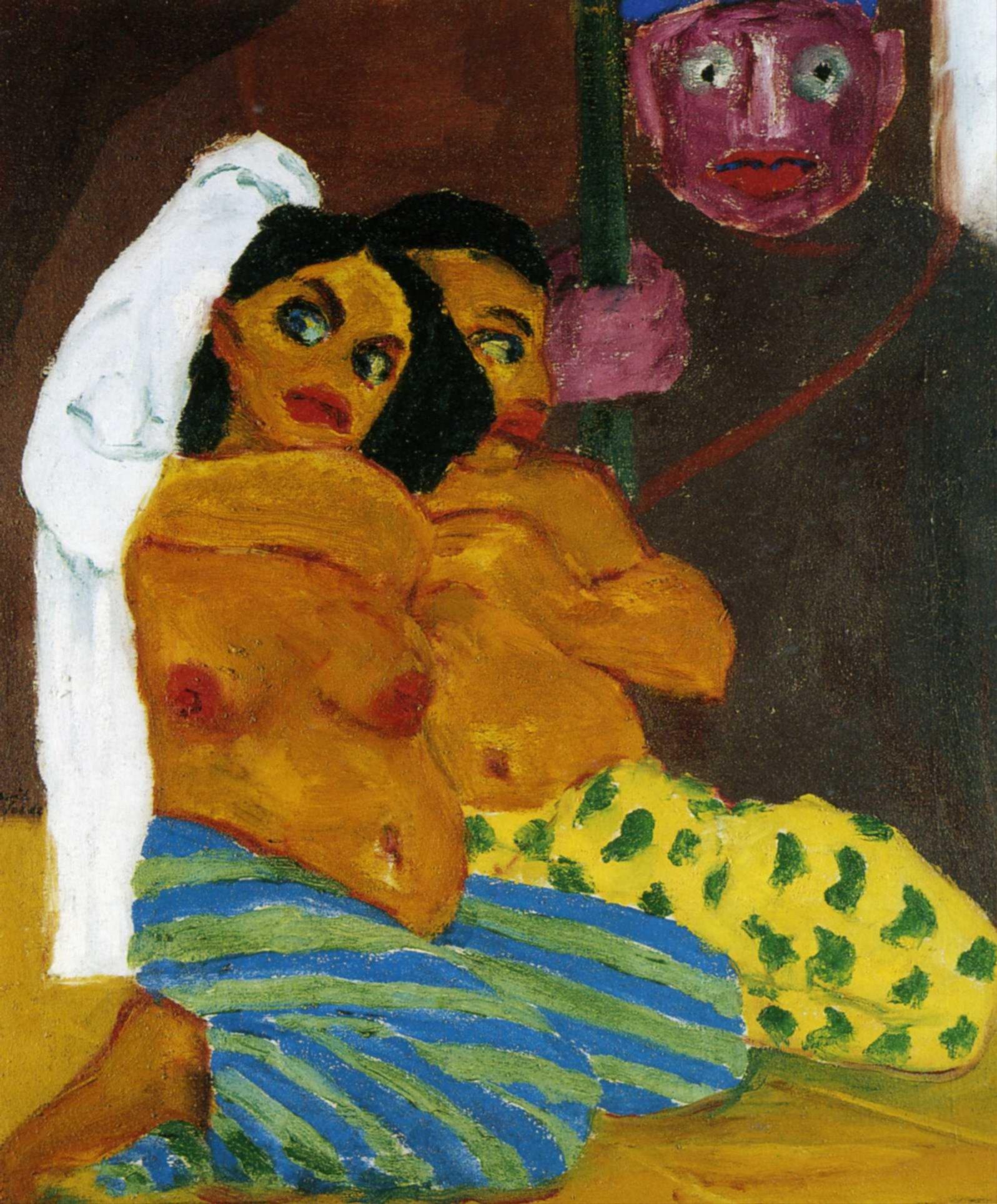1912 Emil Nolde - Naked&eunuchs the guardian of Harem