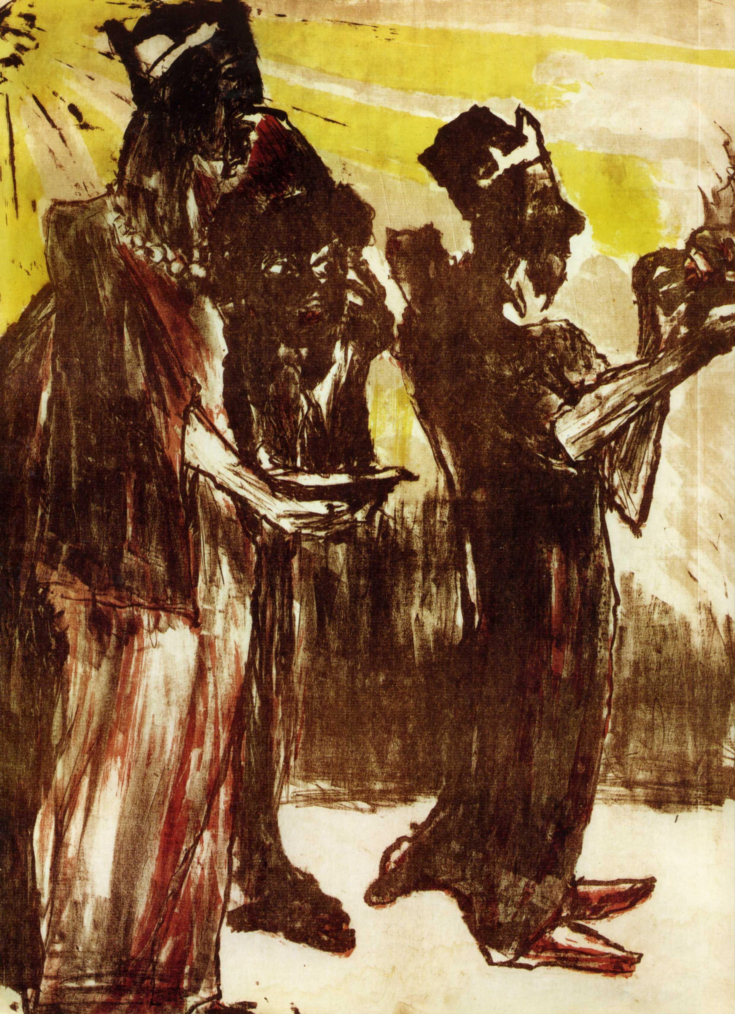 1913 Emil Nolde - The three Magi