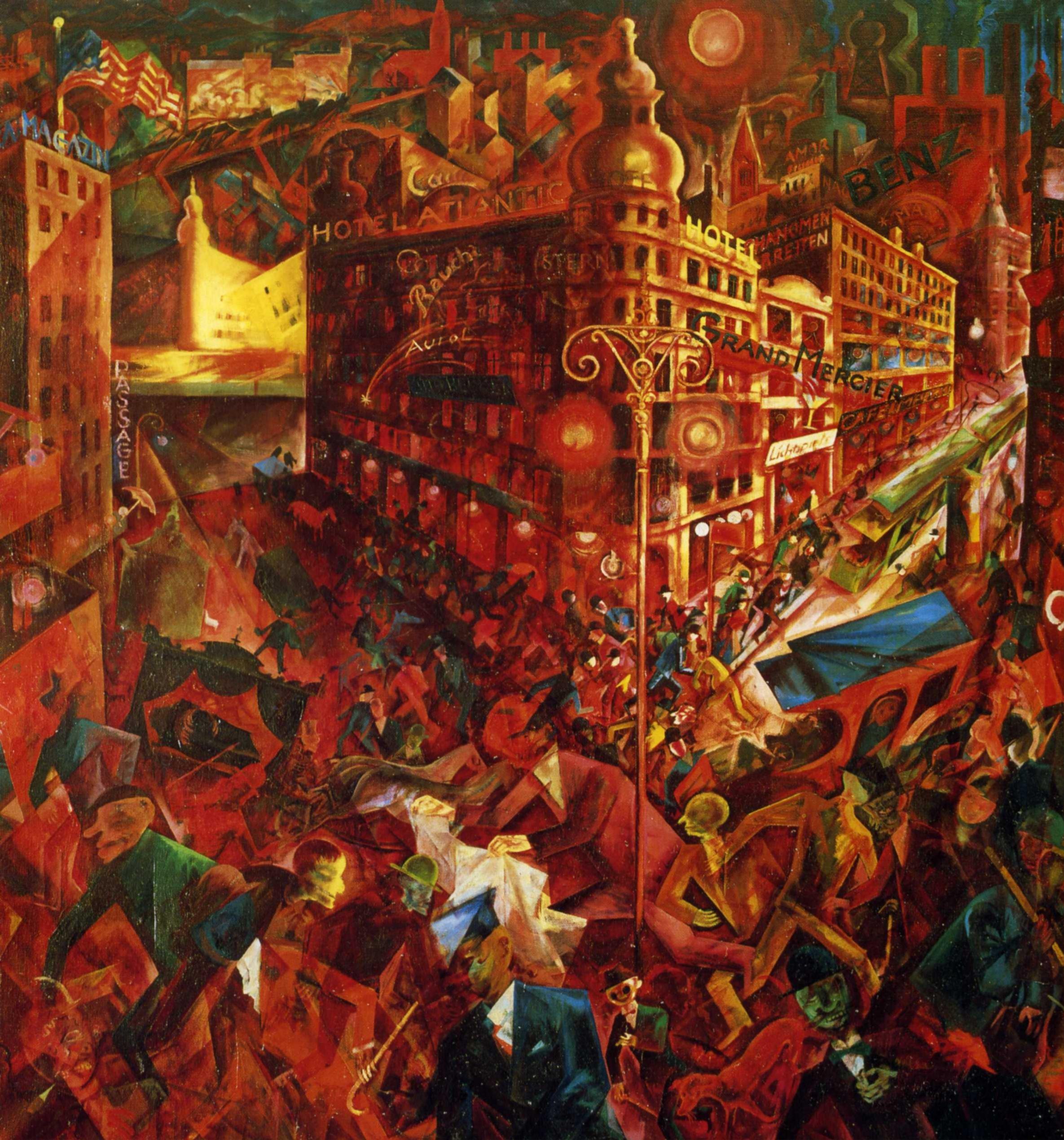 1916-1917 George Grosz - Overlooking the great view
