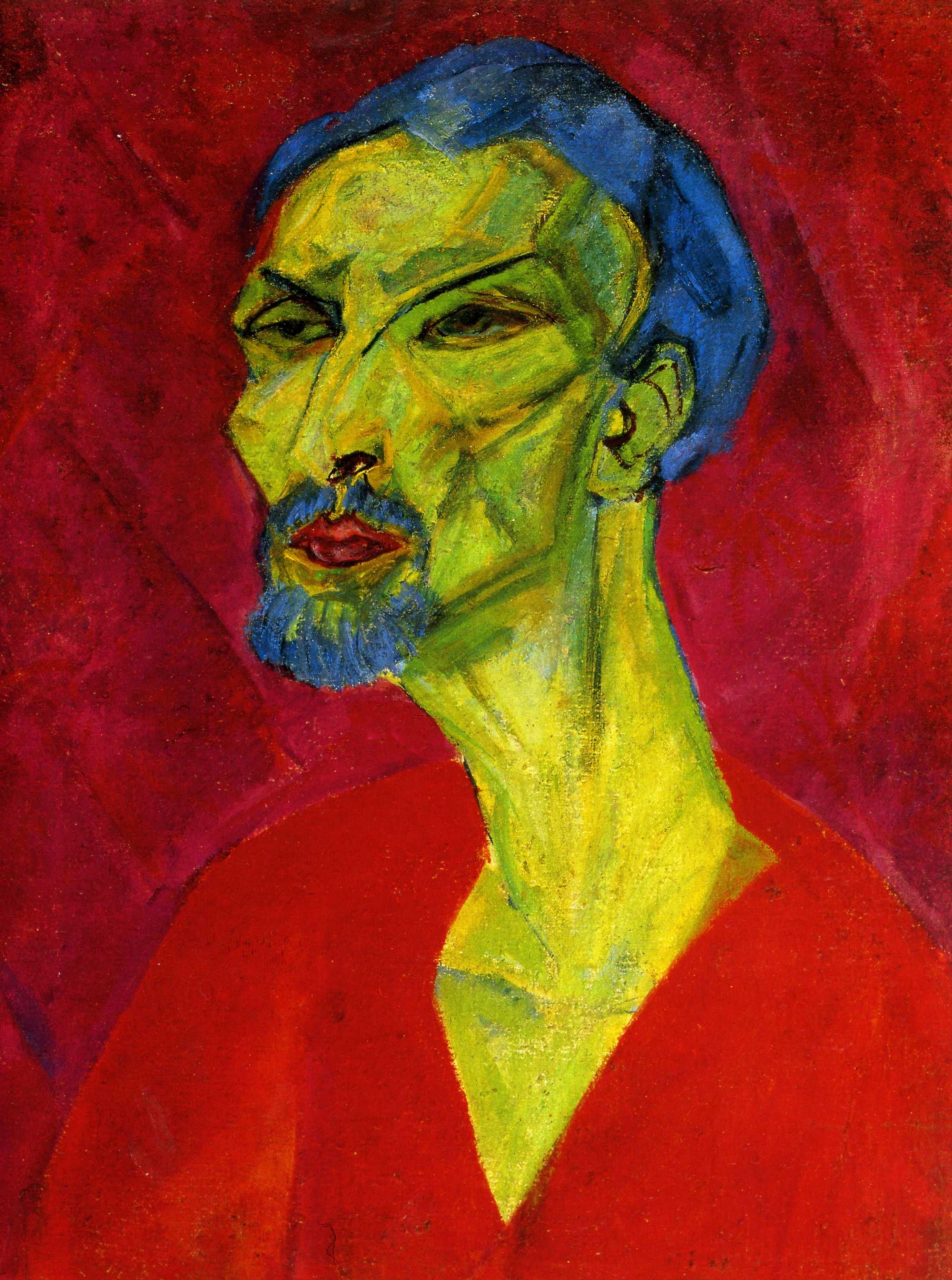 1919 1929 Hanns Katz - Portrait of a Man in red