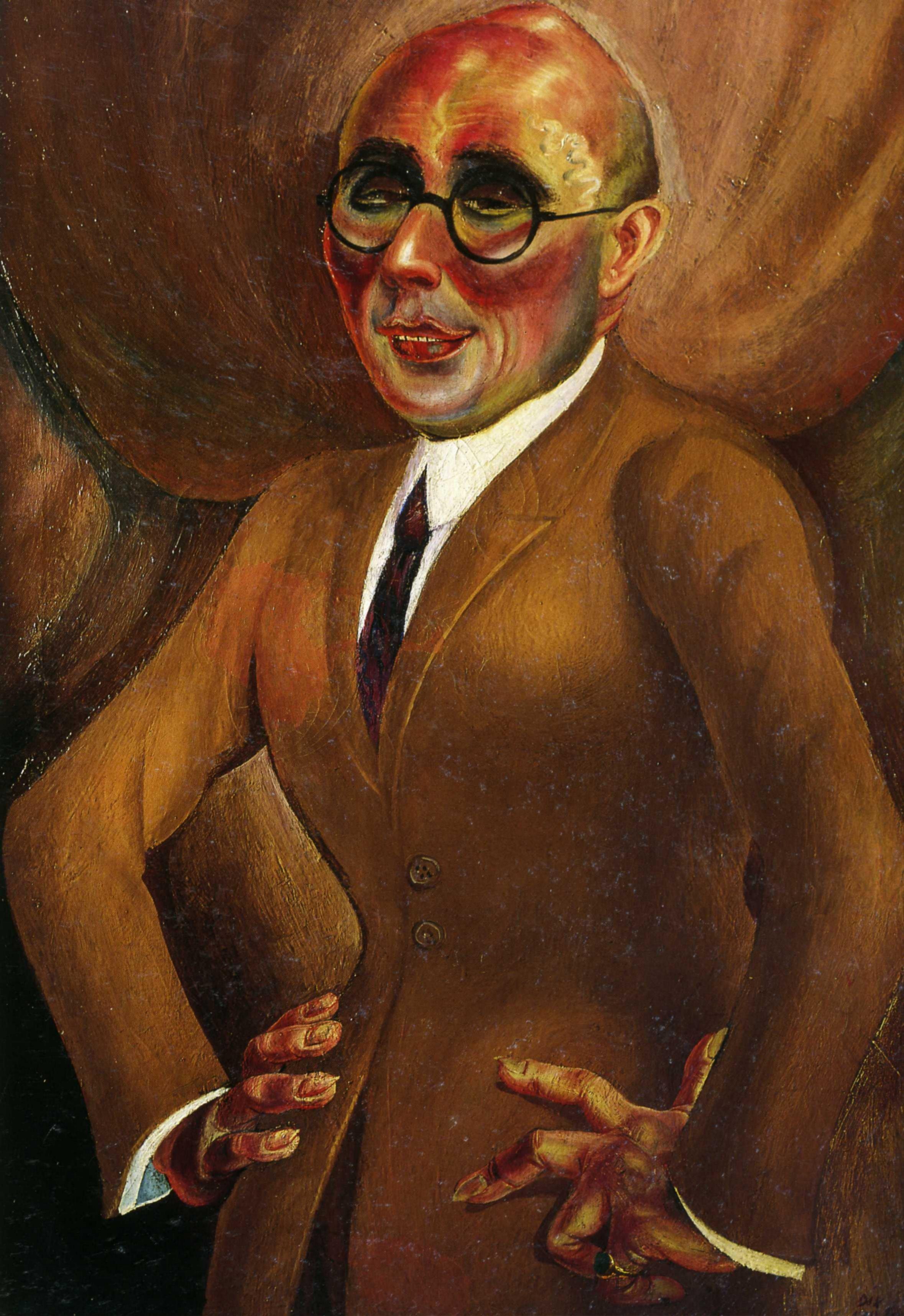 1923 Otto Dix - Portrait of jeweler Karl Krall