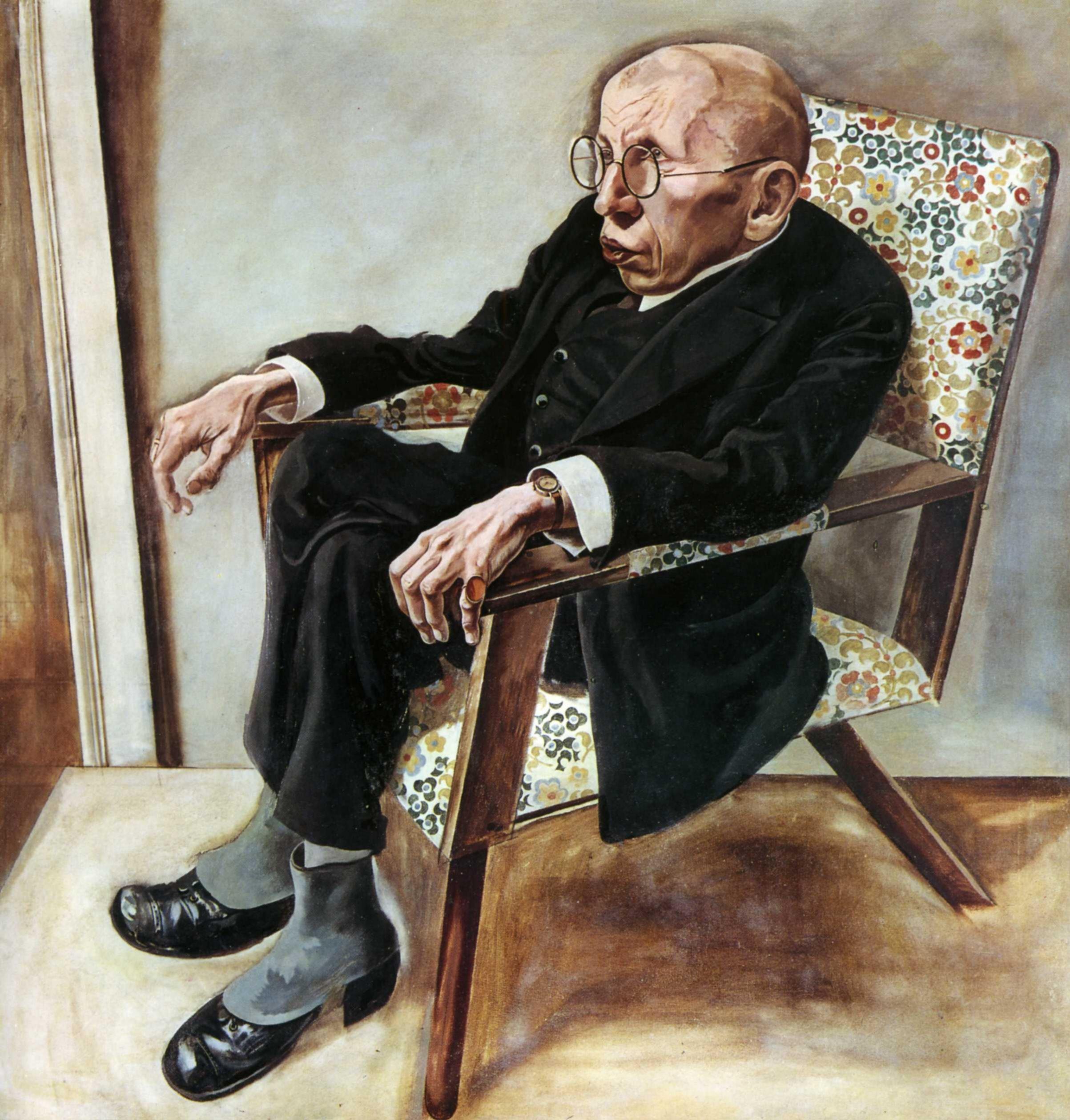 1925 George Grosz - Portrait of Max Hermann-Neisse